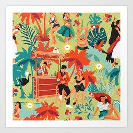 Resort living Art Print