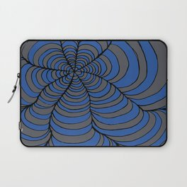 Tunnels Blue and Silver Laptop Sleeve