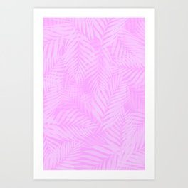 Palm Leaves - Orchid Pink Art Print