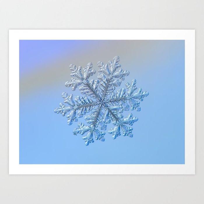 Real snowflake - Hyperion Art Print