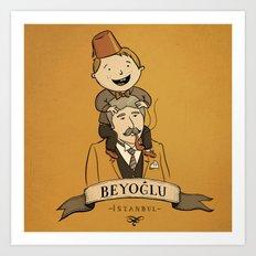 Beyoglu, İstanbul Art Print