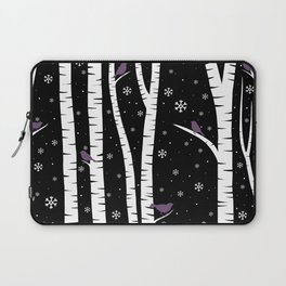 Birch Forest - Winter Idyll Laptop Sleeve