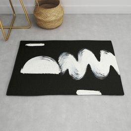 black and white shape study3 Rug