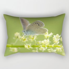 Butterfly on Spring flowers Rectangular Pillow