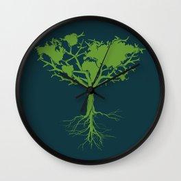 Earth Tree Wall Clock