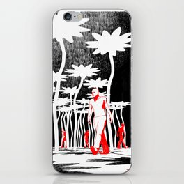 Searching for flowers iPhone Skin