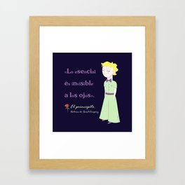 Cute little prince Framed Art Print