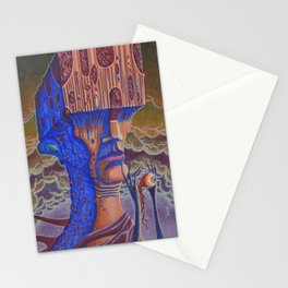 Blind Cube Head Stationery Cards