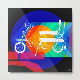 Lambretta composition in blue Metal Print