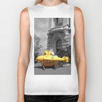 yellow submarine Biker Tanks featuring yellow submarine  by 33bc