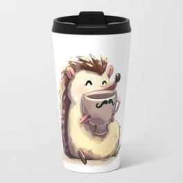 Hedgehog Drinking Coffee Travel Mug