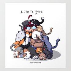 Cat Cave Art Print