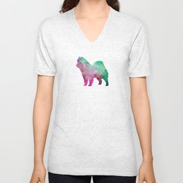 Eurasian in watercolor Unisex V-Neck