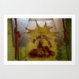 Native American Artwork at Alcatraz Art Print