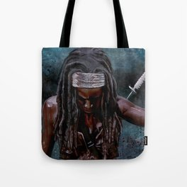 Michonne And Her Sword - The Walking Dead Tote Bag
