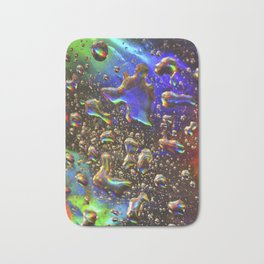 hologram rain Bath Mat