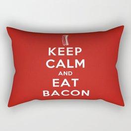 Keep calm and eat bacon Rectangular Pillow