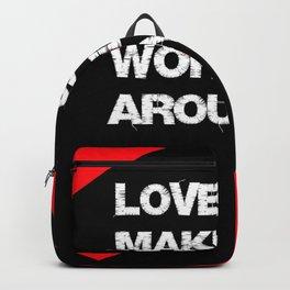 Love Makes the World Go Around/Black Art Backpack