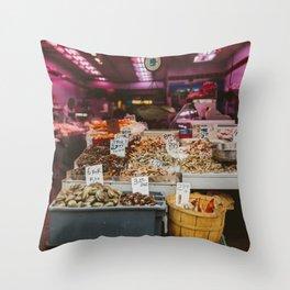 Chinatown Shellfish Throw Pillow