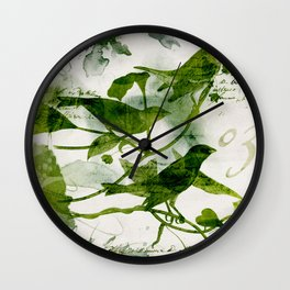 Birds (square 3) Wall Clock