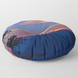 Colorful Sunset - North_Rim, Grand_Canyon, AZ Floor Pillow