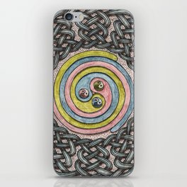 Celtic Knotwork Circle and Spiral iPhone Skin