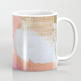 Moving Mountains: a minimal, abstract piece in reds and gold by Alyssa Hamilton Art Coffee Mug