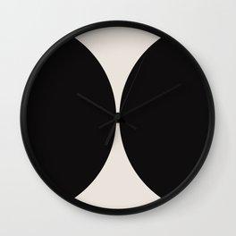 Curvature Minimalism - Black Wall Clock