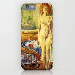 Edvard Munch - The Death of Marat II - Digital Remastered Edition iPhone Case