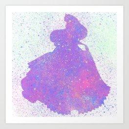 Princess Aurora Silhouette Art Print