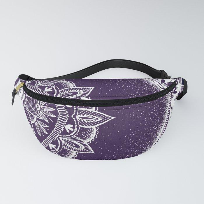 Purple Dream Mandala Fanny Pack