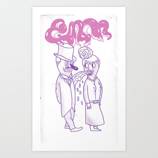 barf onto others Art Print