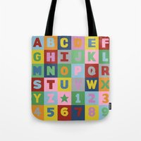 alphabet Tote Bags featuring Alphabet by Project M