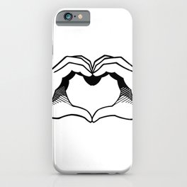 Ace of Heart Hands iPhone Case
