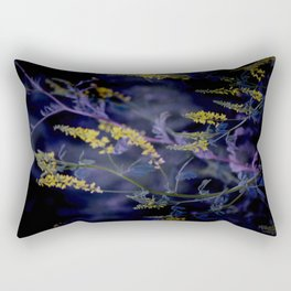 purple and yellow Rectangular Pillow