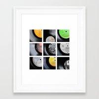 vinyl Framed Art Prints featuring Vinyl by Kitsmumma