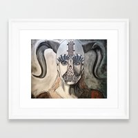viking Framed Art Prints featuring Viking by Hannah Brownfield Camacho