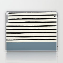 Dusty Blue x Stripes Laptop & iPad Skin