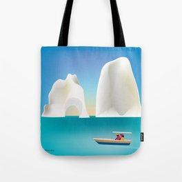 Capri, Italy- Skyline Illustration by Loose Petals Tote Bag