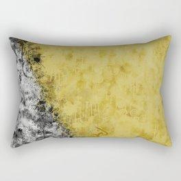 Golden Circles Rectangular Pillow