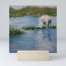 All I Need, Rhino with a mighty reflection Mini Art Print