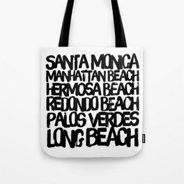 Los Angeles Beach Cities Tote Bag