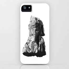 rock drawing - graphite pencil iPhone Case
