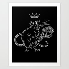 Rat King (white) Art Print