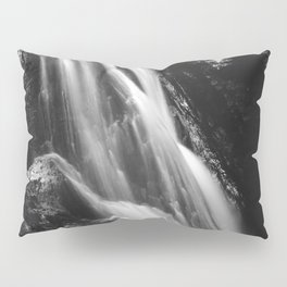 Black and white waterfall in Hell Gorge, Slovenia Pillow Sham