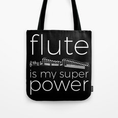 Flute is my super power (black) Tote Bag