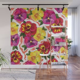 the pansy Wall Mural