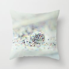 Glitter ball Throw Pillow