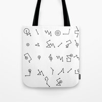 alphabet Tote Bags featuring ALPHABET  by Mansken