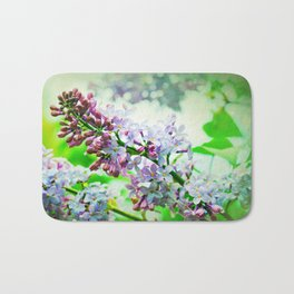 Lilacs In The Green Bath Mat